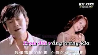 [Karaoke] Trăng Tròn Trong Mây - Lời Việt (Full Beat)