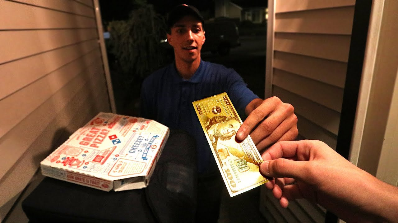 TIPPING PIZZA DELIVERY DRIVER FREE