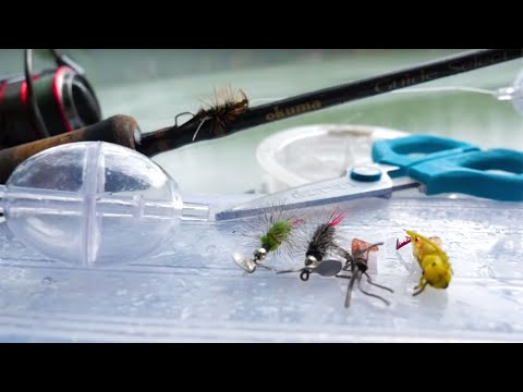Easy Way To Catch Trout Using Water Bobbers & Artificial Flies. (Fly Fishing?!)