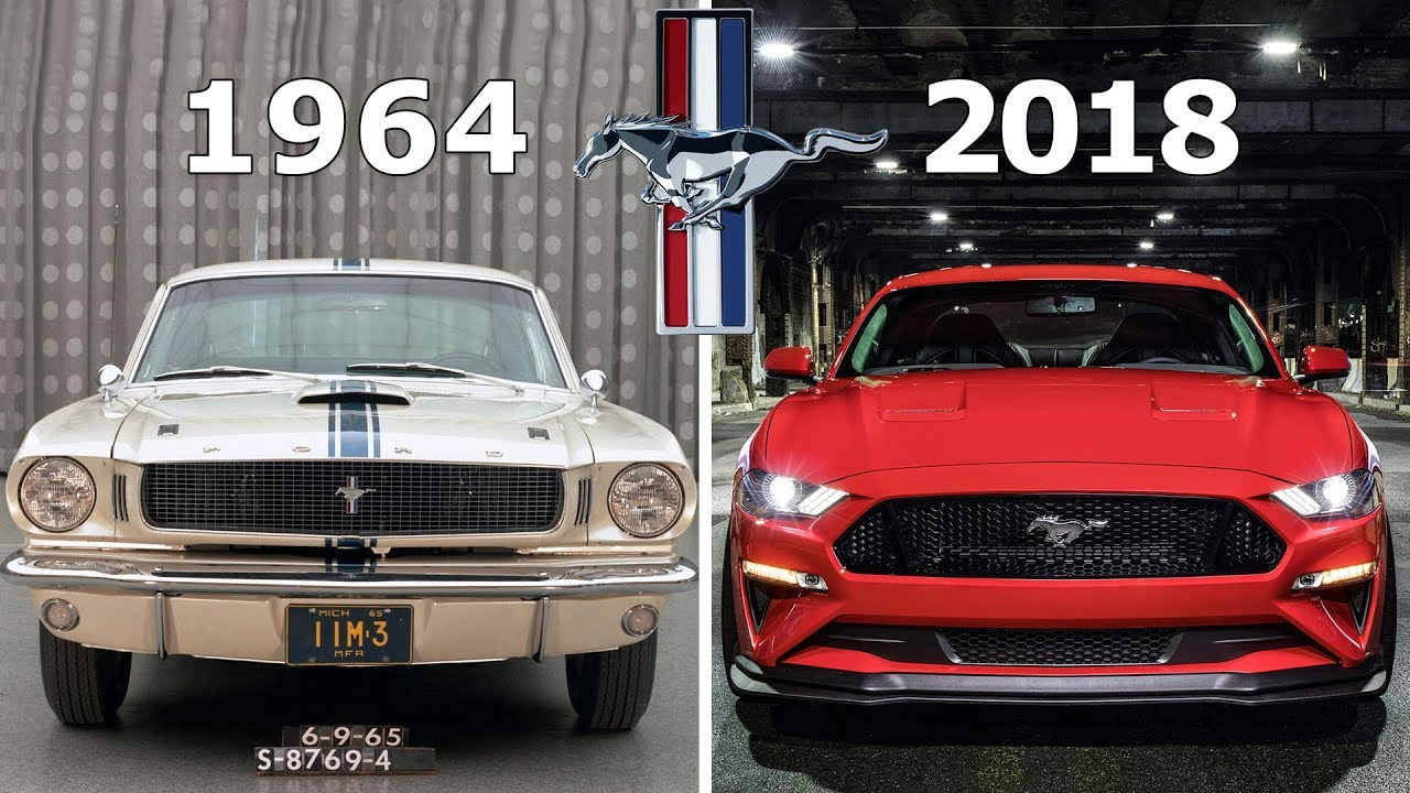 Ford mustang evolution 1964 2018