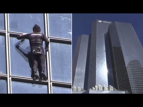 55YearOld 'French SpiderMan' Climbs 587Foot Building in 30 Minutes