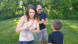 Silly String Gender Reveal FAIL