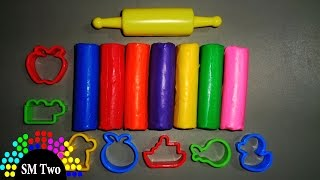 Play and learn colours with play dough kids toys