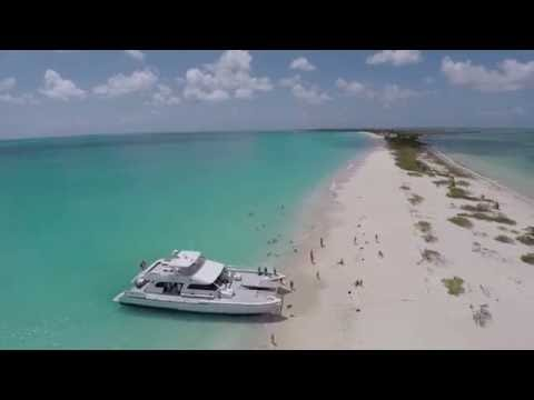 The Excellence Catamaran Tour to Barbuda (Drone Footage at LOW BAY, Barbuda)