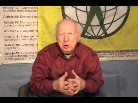 Garry Davis discusses historic 9th amendment, part one