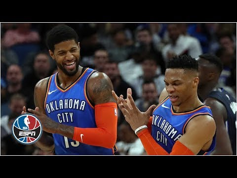Paul George's 37, Russell Westbrook's triple-double extended Thunder's win streak | NBA Highlights