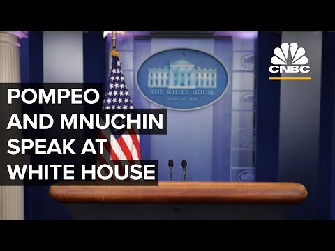 Pompeo and Mnuchin address the media at the White House – 09/10/2019