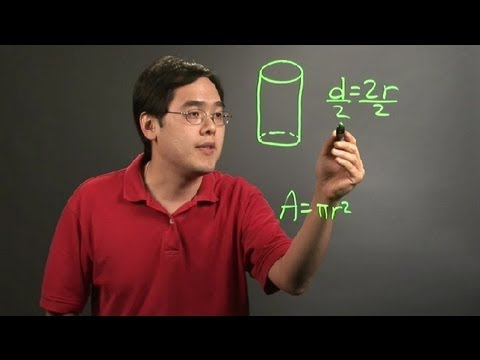 How to Find the Cross-Sectional Area of a Cylinder, Given the Diameter : Math Instruction