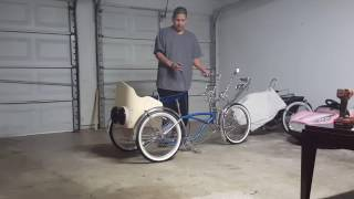 Custom Lowrider trike with hydraulic