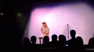 Mona Aburmishan at Zanies Comedy Club in Rosemont, Illinois.