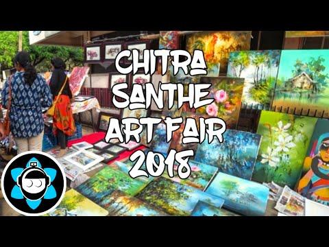 Chitra Santhe 2018 Art Fair - Bangalore Travel Vlog - Motovlog