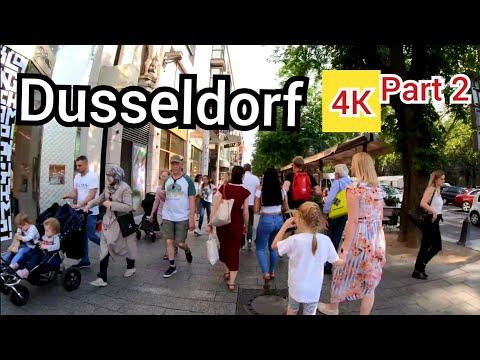 ⁴ᴷ DUSSELDORF walking tour 🇩🇪 Germany (Deutschland) part 2