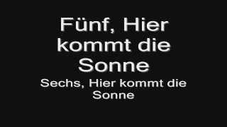 Rammstein - Sonne (lyrics) HD