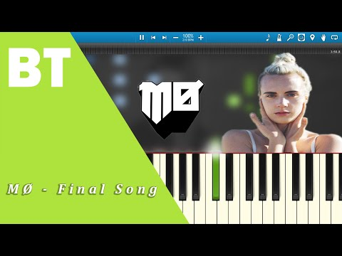 MØ - Final Song (Piano Cover) + Sheets
