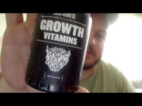 Beard growth vitamins and oil from dollar beard club review part 1