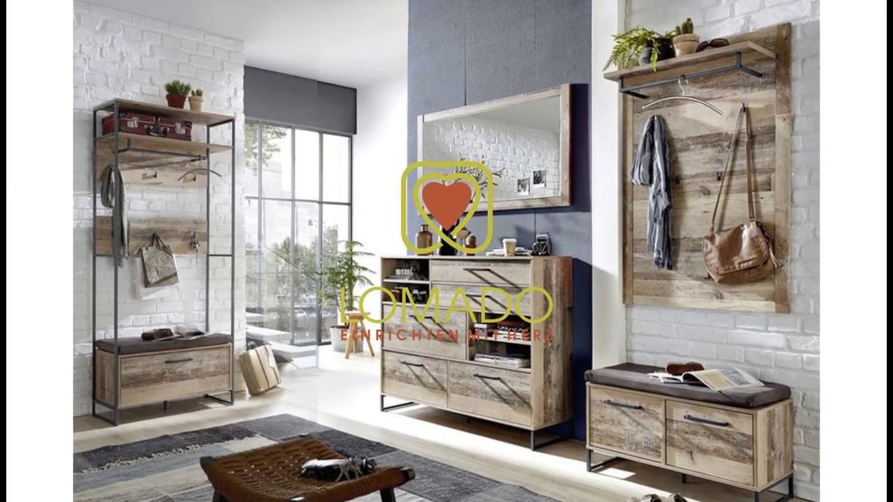Lomado Vintage Garderoben Set Riad 36 Möbel Online Kaufen