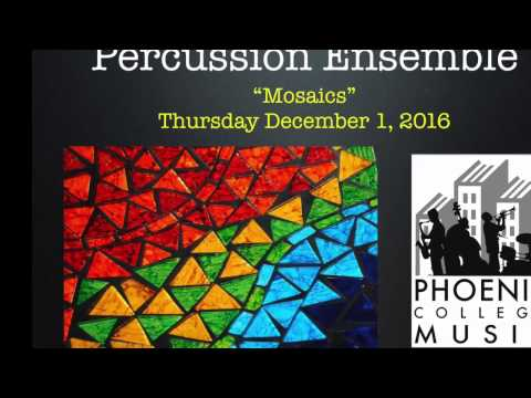 Phoenix College Percussion Ensemble, Fall 2016 (full concert)