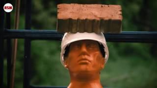 Каска против кирпича || Helmet Against Brick
