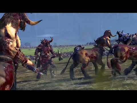 The Beastman Vs Greenskin - Massive Battle Total War Warhammer |
