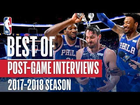 Best Moments from Post-Game Interviews | 2017-2018 NBA Season