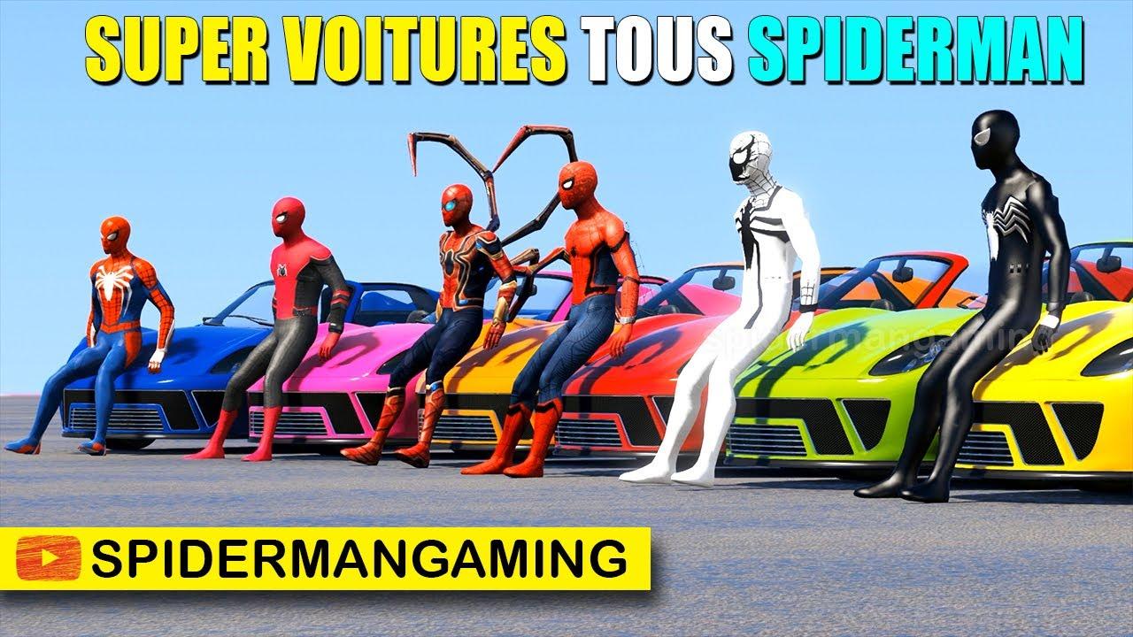 Download Super-Héros super voitures tous Spiderman dans le grand défi rampe jumbo
