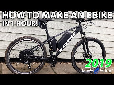 HOW TO MAKE AN EBIKE IN UNDER AN HOUR!!! | TREK MARLIN 5 EBIKE CONVERSION