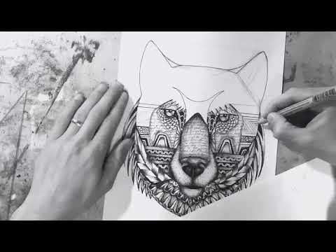 Fine Point Illustrations: Wolf