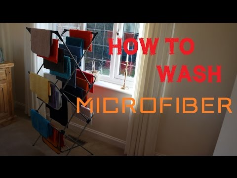 How to wash microfiber towels - drying microfibre detailing cloths