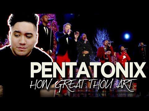 Pentatonix - How Great Thou Art (feat. Jennifer Hudson) REACTION!!!