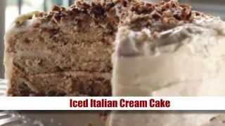 Iced Italian Cream Cake Recipe