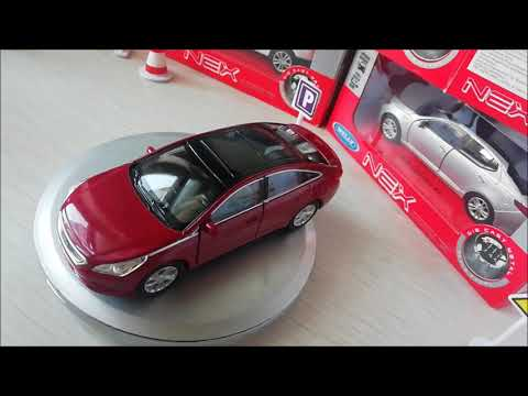 Unboxing Diecast Model Hyundai Sonata LF 2014-17 By WELLY NEX 1:42