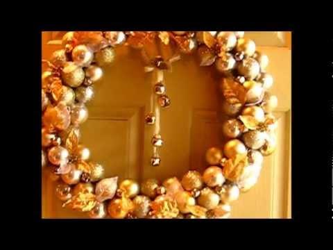 how to make christmas ball wreaths you tube