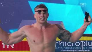 ADAM PEATY BREAKS WORLD RECORD IN 57.00 SECONDS!!! - Swimming European Championships 2018