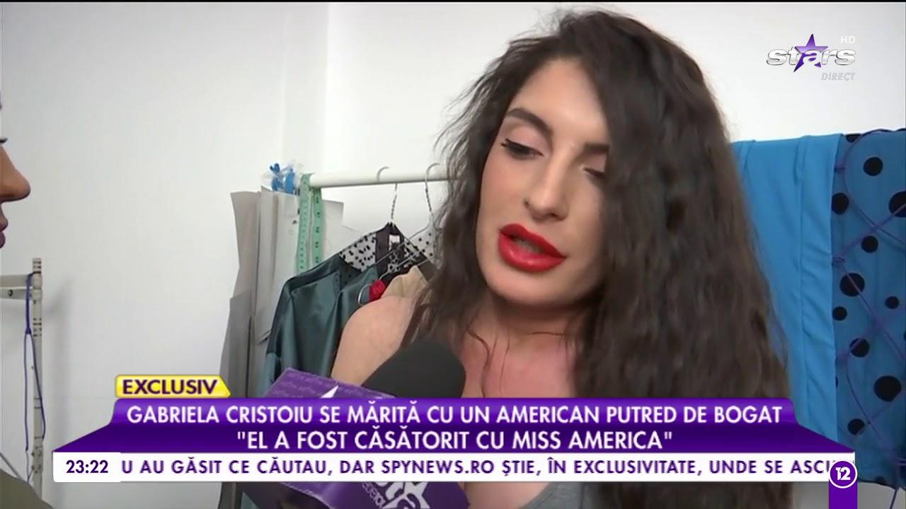 Gabriela Cristoiu se mărită cu un american putred de bogat! - YouTube