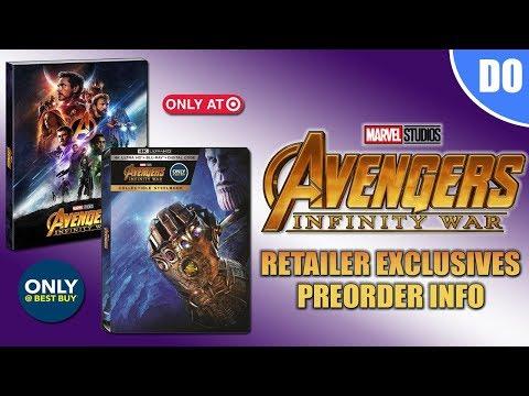 Avengers Infinity War Retailer Exclusives Pre-order Info | Best Buy SteelBook & Target Digipack
