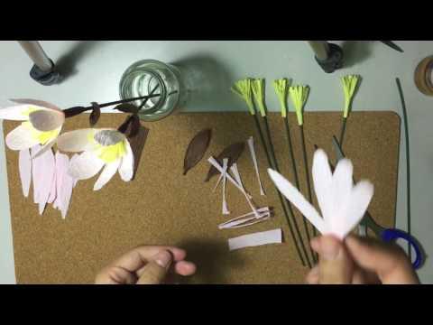 DIY - Paper Flowers 05: Simple cherry blossom