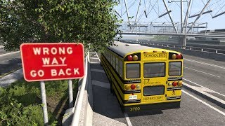 School Bus Crashes 13   BeamNG.drive