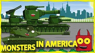 Trailer for new season Monsters in America  - Cartoons about tanks