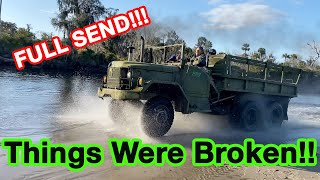 Xtreme Off Roading my 6x6 m35A2 Army Truck!!!