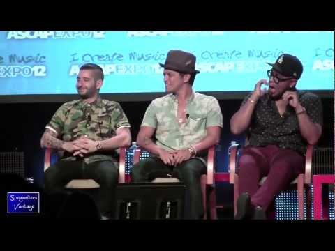 BRUNO MARS/PHILIP LAWRENCE/ARI LEVINE - FUNNY!  LIVE at ASCAP Expo 2012