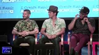 BRUNO MARS/PHILIP LAWRENCE/ARI LEVINE - FUNNY!  LIVE at ASCAP Expo 2012