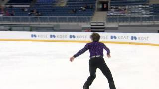 2015 ISU Junior Grand Prix Bratislava Men Short Program Roman SADOVSKY CAN