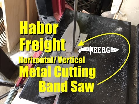 Harbor Freight Horizontal/Vertical Metal Cutting Band Saw for Knife Makers