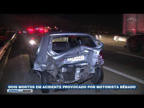 SP: Motorista Bêbado Causa Duas Mortes
