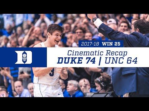 Cinematic Recap: Duke 74, UNC 64 (3-3-18)