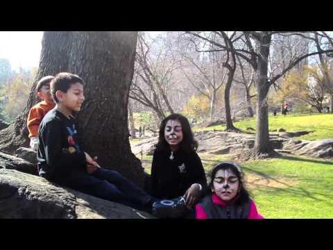 ArushiRiyaIshaanKrish singing Teri Meri in Central Park
