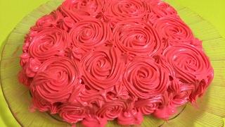 Шоколадный торт в форме сердца с розами/Шоколадный торт С крем чизом/День торта/Торты рецепты