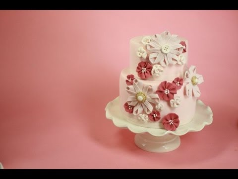 sugar flowers for wedding cakes how to make sugar ribbon flower cake how to 20573