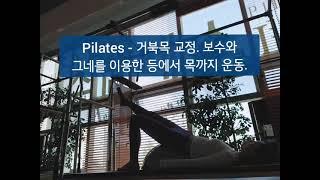 Pilates - 거북목교정. 보수와 그네를 이용한 등…