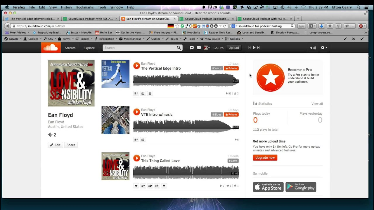 How to Signup for Soundcloud for Podcasting and submit to itunes